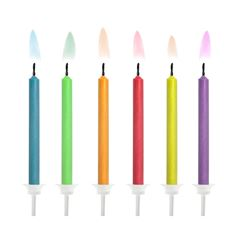 Velas con flama de colores - Sanborns