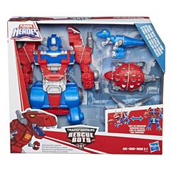 Optimus Prime Caballero Guardia Transformers Rescue Bots - Sanborns