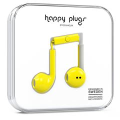 Audífonos Earbud Amarillo Happy Plugs - Sanborns