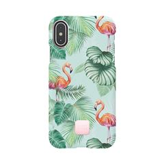 Funda iPhone X/XS Pink Flamingos Happy Plugs - Sanborns