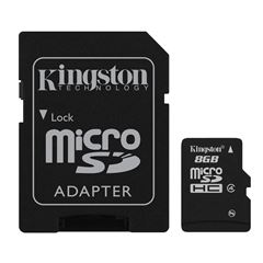 Tarjeta Kingston 8gb Micro SD C4 con Adaptador - Sanborns
