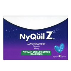 Nyquil z 25mg 30 caps - Sanborns