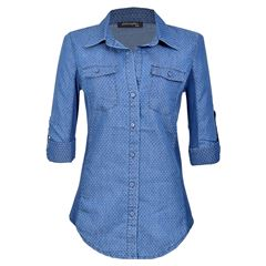 Blusa M Camisera azul Philosophy JR - Sanborns