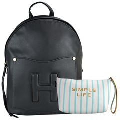 Bolsa Huser Backpack Mediano Modelo Sh19302-2 Color Negro - Sanborns