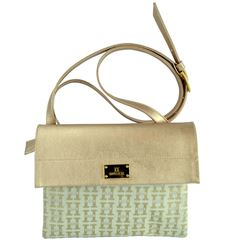 Bolsa Huser Cross Body Monograma Oro - Sanborns