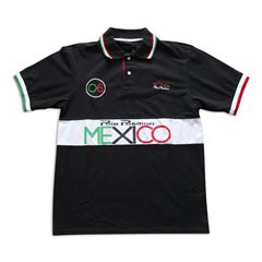 Playera Polo Pole Position México mediana negra - Sanborns