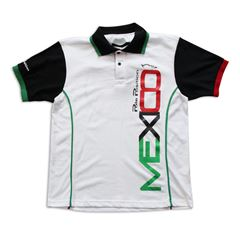 Playera Polo Pole Position México blanca mediana - Sanborns