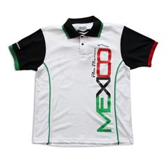 Playera Polo Pole Position México blanca grande - Sanborns