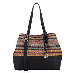 Bolsa Satchel Westies negro multicolor - Sanborns