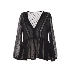Blusa escote V negro M Philosophy Jr. - Sanborns