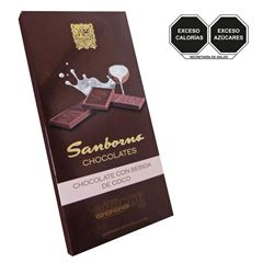 Tablilla Chocolate com Leche de coco - Sanborns