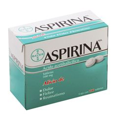 Aspirina 100 Tabletas 500 mg - Sanborns
