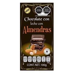 Chocolate Holex Leche Almendras S/A - Sanborns