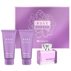 Fragancia Para Dama Set de Navidad Rose Bouquet Ferrioni - Sanborns