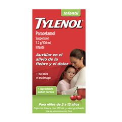 Tylenol Suspensión 120 ml Infantil Cereza - Sanborns