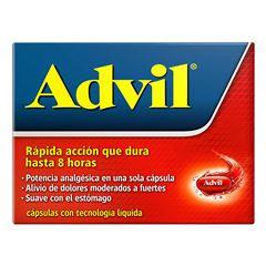 Analgésico Advil 400 mg Dolores Moderados a Fuertes Caja con 10 cápsulas - Sanborns