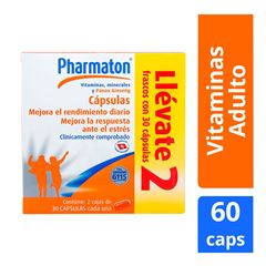 Pharmaton Multivitaminico 30 cápsulas 40 mg Duopack - Sanborns