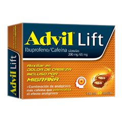 Advil Lift 200mg/65mg Cápsulas 10 - Sanborns