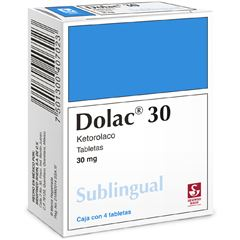 DOLAC 30 SUBLINGUAL 30MG  TAB 4 - Sanborns