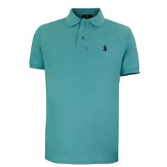 Playera Polo Club Mc Pique Algodón Md Aqua - Sanborns