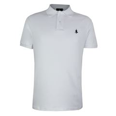 Playera Polo Club Mc Liso Algodón Md Blanco - Sanborns