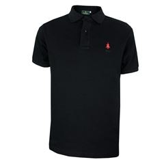 Playera Polo Club Mc Liso Algodón Gd Negro - Sanborns