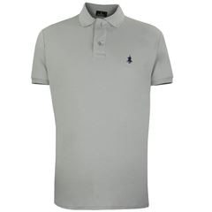 Playera Polo Club Mc Liso Algodón Md Gris - Sanborns