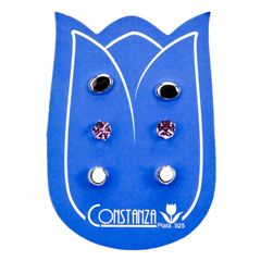 Set 3 pares aretes Constanza SET158 Plata .925 - Sanborns