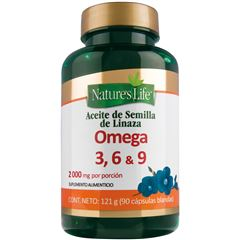 Omega 3  6 Y 9 Caps 90 NATURES LIFFE - Sanborns