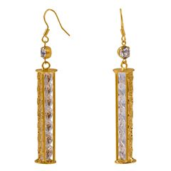 Aretes Largos Chapa de Oro Unlimited By Oro Boleano - Sanborns