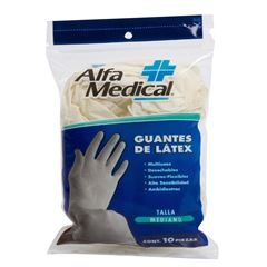 Guantes de Latéx Alfa Medical - Sanborns
