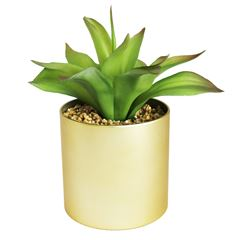 Maceta dorada Home Nature agave - Sanborns