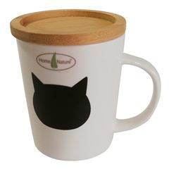 Taza de porcelana de bambu Home Nature gato - Sanborns