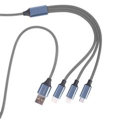 Cable 3 en 1 Micro / Type C / Lightning Geartek - Sanborns