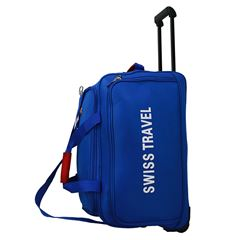 MALETA DUFFLE AZUL 24 RUEDAS SWISS TRAVEL - Sanborns
