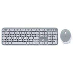 Kit Teclado y Mouse Retro RK110 Aqua Acteck - Sanborns