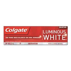 Crema Dental Colgate Luminous White 22 ml - Sanborns