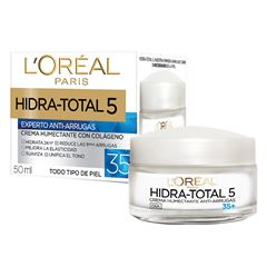 Crema Hidratante Antiarrugas 35+ Hidra Total5 L'Oréal Paris 50ml - Sanborns