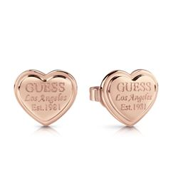 Aretes Guess Follow my Charm Oro Rosa - Sanborns