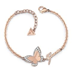 Brazalete GUESS Love butterfly oro rosa - Sanborns