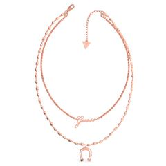Collar GUESS Get lucky oro rosa - Sanborns