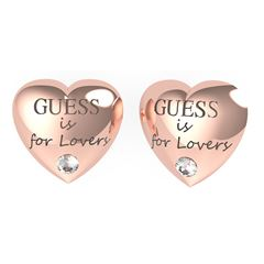 Aretes Guess Is For Lovers Color Oro Rosa - Sanborns