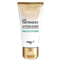 Cuidado diario anti-fotoenvejecimiento FPS50+ L'Oréal Paris UV Defender anti-brillo, 40ml - Sanborns