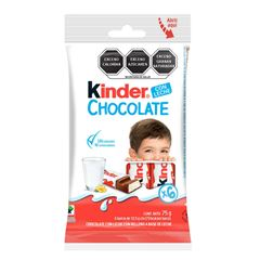 Paquete con 6 Barras de Chocolate Kinder 75g - Sanborns