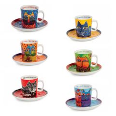 Set 6 tazas de café LAUREL BURCH - Sanborns