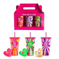 Set para Dama Agatha Ruiz de la Prada Love Smoothies Collector EDT 3 X 80ML - Sanborns