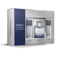 Set para Caballero Antonio Banderas King of Seduction 100 ml + Showergel 75 ml + Aftershave balm 75 ml - Sanborns