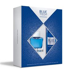 Set para caballero, Antonio Banderas, Blue seduction, EDT 100ML + desodorante 150ML - Sanborns