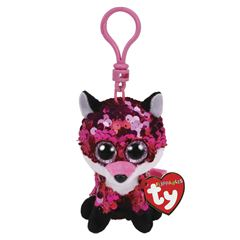 PELUCHE JEWEL - SEQUIN PINK FOX CLIP TY - Sanborns