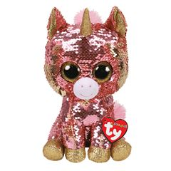Peluche Sunset Sequin Coral Unicorn TY - Sanborns